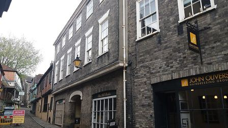 26 to 30 Elm Hill, which have been added to Historic England's At Risk register. Photo: Historic Eng