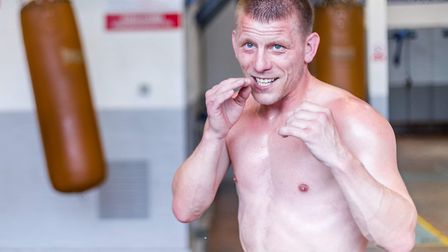 Michael Walsh preparing for his return to the boxing ring Picture: Mark Hewlett