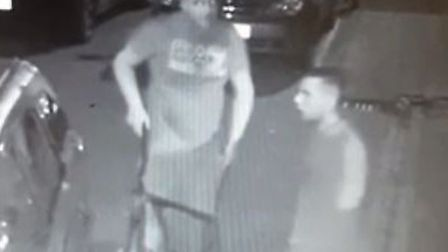 Police want to speak to these men about the theft of fishing tackle Picture: Cambridgeshire Consta