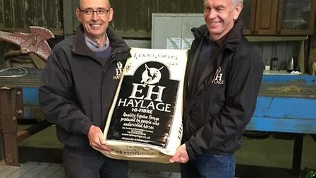 The millionth bale of haylage has been produced at EH Haylage in Shotesham. Picture: Ed Howard