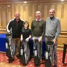The winning team at the first event of the new Norfolk Winter Golf Tour at Thetford, Luke Guthrie, S