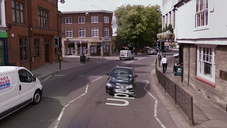 Police are appealing for witnesses after two people were hit by a car on Upper King Street. Picture: