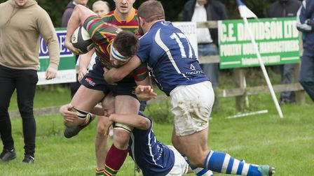 Diss halt a Norwich attack during Saturday's London 2NE derby at Mackenders Picture: ANDY MICKLETHWA