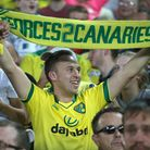 The home fans celebrate victory at the end of the Premier League match at Carrow Road, NorwichPictur