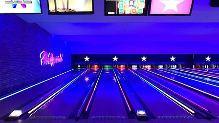 Hollywood Bowl have launched an interactive video themed inspired bowling game. Picture: Ella Wilkin