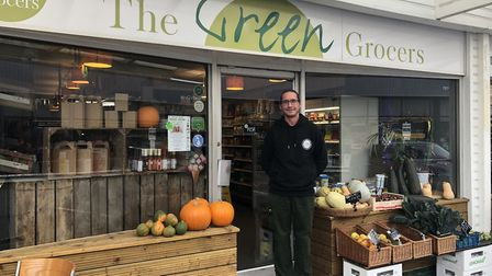 Luke Coathup, owner of The Green Grocers in Norwich's Earlham House shops. Picture: Archant