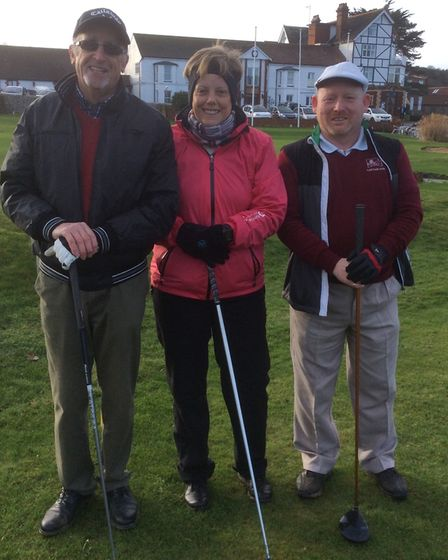 Captains for 2018 at the Links Country Park Golf Club (left to right): Brian Hannah, Carole Davidson