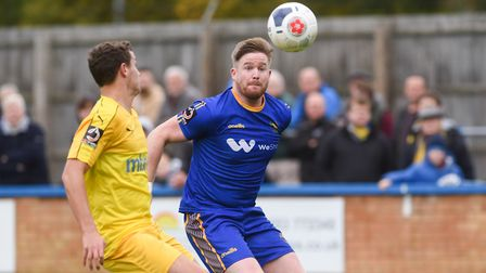 Michael Gash with his eyes on the ball - Lynn need to get back to their best form at Kidderminster P