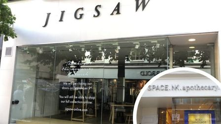 The former Jigsaw store which is being taken over by SpaceNK, opening on Friday. Pic: Archant