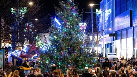 The best light switch-ons in Norfolk and Waveney, pictured is the Lowestoft Christmas lights. Pictur