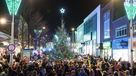 Lowestoft Christmas lights are switched on for the 2017 festive season.Picture: Nick Butcher