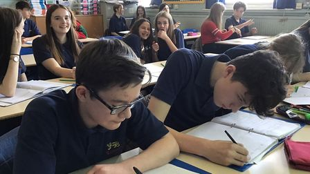 Year 10 students studying French at City of Norwich School. Photo: Ormiston Academies Trust