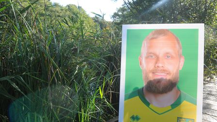 Did you guess where Teemu Pukki was hiding? Photo: Tony Thrussell