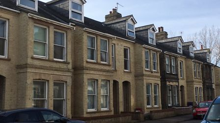 Some of the five properties in Cleveland Road, Lowestoft being proposed for a new supported housing