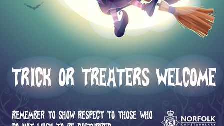 The poster issued by Norfolk Police urging people to respect others this Halloween. Picture: Norfolk