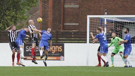 Jack Duggan scoring the opening goal for Coalville Picture: Shirley D Whitlow