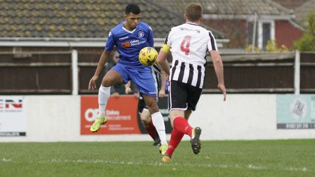 Malachi Linton was on target for Lowestoft last weekend Picture: Shirley D Whitlow