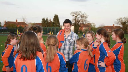 England scrum-half Ben Youngs switched sports to help with training for Aylsham Ladies. Picture: Arc