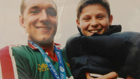 England rugby player Ben Youngs with Ben Kay. Picture: Submitted