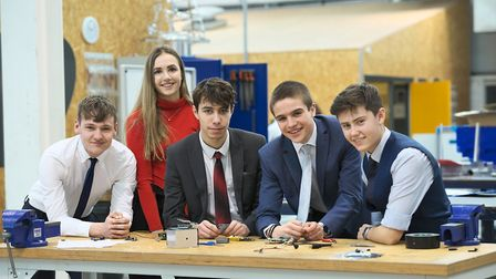 Students at University Technical College Norfolk, which has had its Ofsted rating raised from 'requi