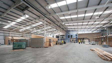 Workshop areas of the University Technical College Norfolk in Norwich, pictured before its opening i