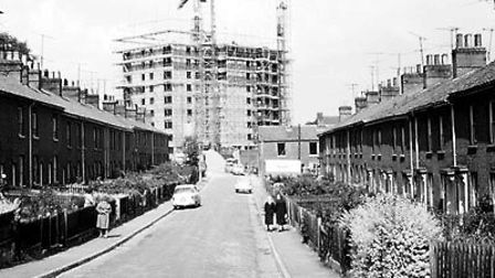 Construction began on Normandie Tower in 1966. Photo: Norwich City Council