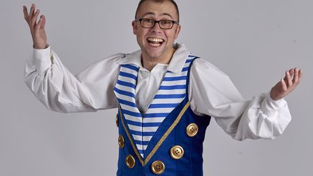 Jo Tracini returns to his birth county to play Buttons in Norwich Theatre Royal's pantomime of Cinde