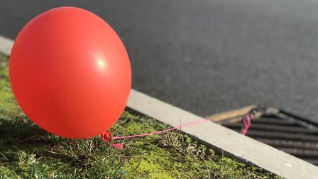 Creepy floating red balloons have been seen in Queen's Hill Costessey. Picture: Victoria Pertusa