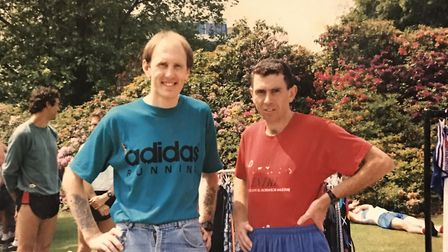 Neil Featherby, left, with Tommy Hughes Picture: Neil Featherby