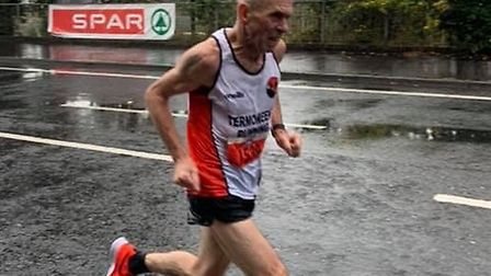 Tommy Hughes at the Belfast half marathon Picture: Tommy Hughes