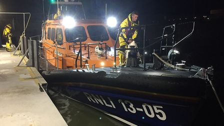 HM Coastguard rescue officers from Lowestoft and the town's RNLI Lowestoft Lifeboat was alerted. Pic