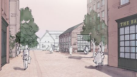 An artist's impression of how the regenerated St Mary's Works site could look. Pic: Our Place.