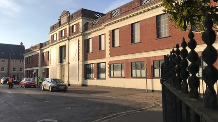 The old St Marys Works shoe factory in Norwich
