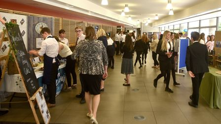 A Young Enterprise Trade Fair at the UEA. A Norwich builder has donated £1m to the university in his