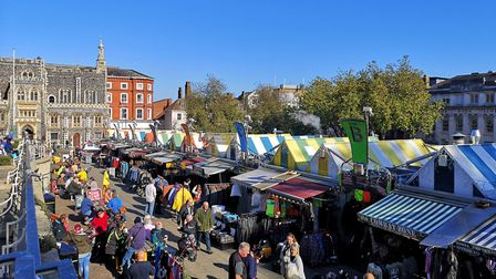 Autumn in the city, Norwich Market Photo: Brittany Woodman