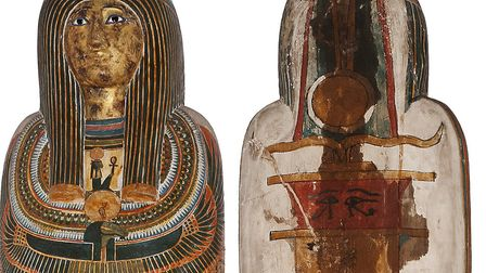 Cartonnage of the priest Ankh-hor Picture: Norwich Castle Museum/Martin Shepherd