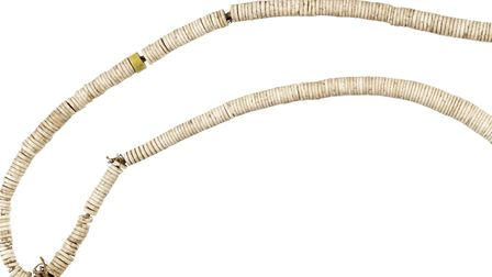 Ancient Egyptian shell necklace Picture: Norwich Castle Museum/Martin Shepherd