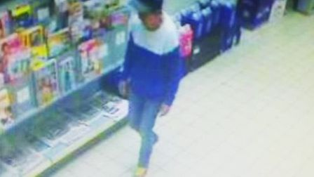 CCTV footage of June Turner at Sainsbury's in North Walsham. Picture: Norfolk Police