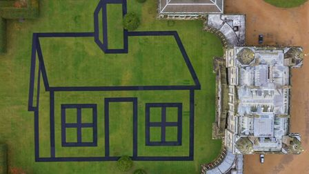 A 70,000 square feet temporary artwork named 'Estate' by artist Richard Woods was installed in the g
