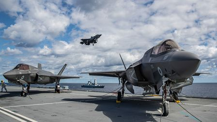 Lightning jets are embarking in the 65,000 tonne carrier to conduct operational trials off the East