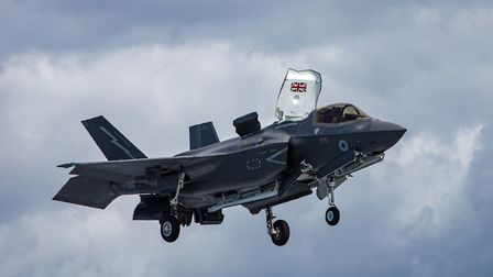 An F-35 Lightning on one of its first training sorties Picture: LPhot Kyle Heller/MoD Crown Copyrig