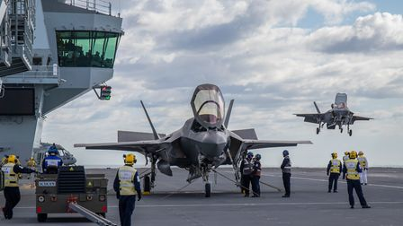Aircraft on the carrier Picture: LPhot Kyle Heller/MoD Crown Copyright/PA Wire
