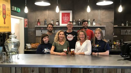 Flashback to the 2018 opening of the Tap Room bar at Redwell Brewery. Picture: Ella Wilkinson