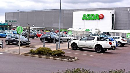 The Asda store in Lowestoft, where plans have been lodged for a new hand car wash on part of the sit