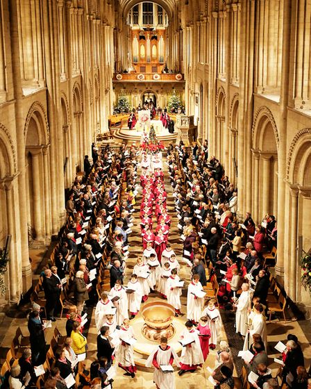 Christmas Procession at Norwich Cathedral Credit: Paul Hurst
