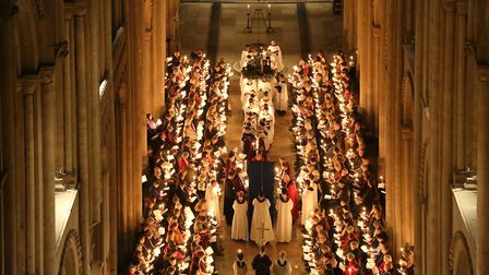 Candlelit Advent Procession at Norwich Cathedral Credit: Paul Hurst