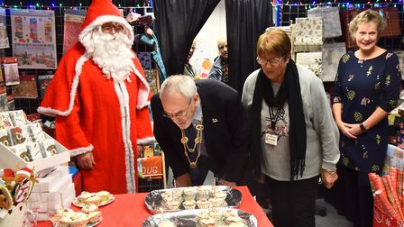 The Lord Mayor officially opens Cards For Good Causes at The forum and helps them celebrate their 60