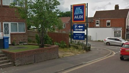 Plans to built 17 homes near the Aldi supermarket on Sprowston Road have been approved. Picture: Goo