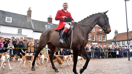 The controversial Boxing Day hunt in Wymondham. Picture: Jamie Honeywood
