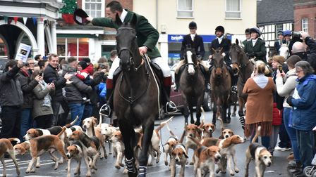 The annual Boxing Day hunt in Bungay led by the Waveney Harriers. Picture: Andrew Atterwill